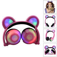 Kids Headphones,Foldable Wired Over Ear With LED