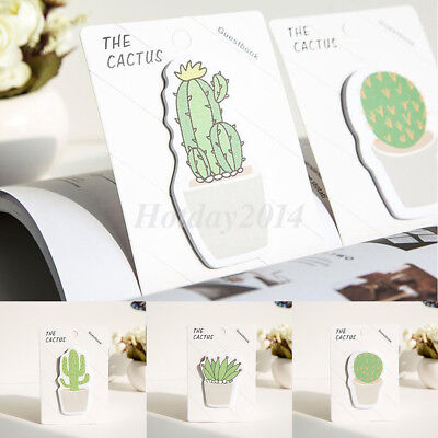 2pcs Cute Cactus Sticker Bookmark Point It Marker Post Flags Sticky Notes