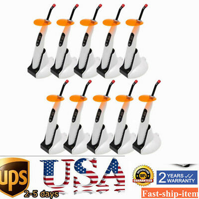 10pc Dental Wireless Led-b Curing Light Woodpecker Style Cure Unit Lamp 5w Best
