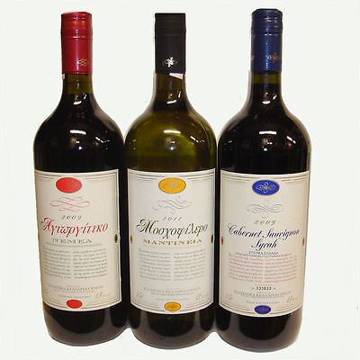Greek Wine Cellars Set 3x 1,5l Kourtaki Rebsortenweine