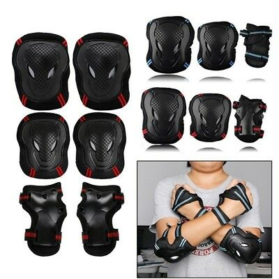 6X Skating Protective Gear Sets Elbow Knee Pad Fashion Bike Skateboard Adult W5H