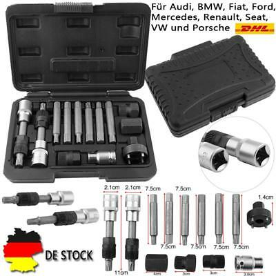 Lichtmaschine Freilauf Wechsel Steckschlüssel Werkzeug für Audi BMW VW +Box SI05