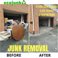 Junk Removal $100-200 Specials [ Garage & Yard Cleaning ]