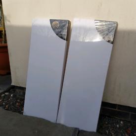 2 x large blank art canvas £6