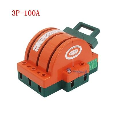 1pc 100a 3 Pole Double Throw Knife Safety Disconnect Switch 220v380v