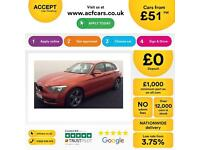 Orange BMW 118d 2.0TD auto 2012 Sport Leather FROM £51 PER WEEK!
