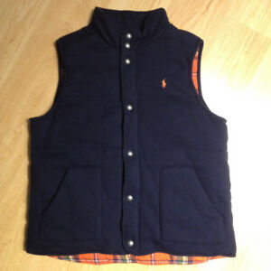 Polo Ralph Lauren Boys Blue Fleece Vest - XL(18-20) - pre-owned
