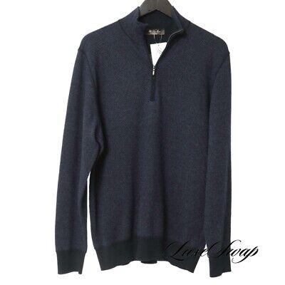 #1 MENSWEAR Loro Piana Italy 100% Cashmere Midnight Roadster Pull Sweater 52 NR