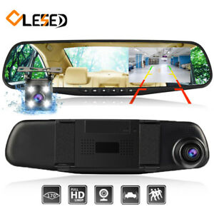 7 Inch 1080P Car DVR Dual Lens Touch Screen Camera