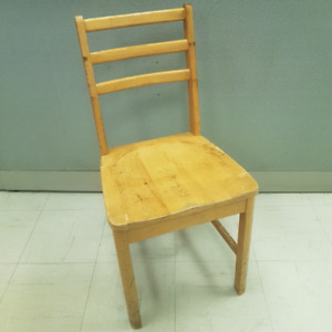 Vintage Solid Wood Chair Henderson Furniture St. Lambert Quebec