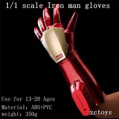2018 Marvel Iron Man Superhero Helmet +Glove Electric Glowing For Adult Kids](Iron Man Gloves For Kids)