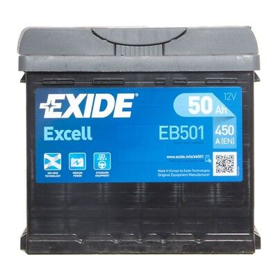 EB501 Excell 077 Car Battery 3 Years Warranty 50Ah 450cca 12V Electrical Exide