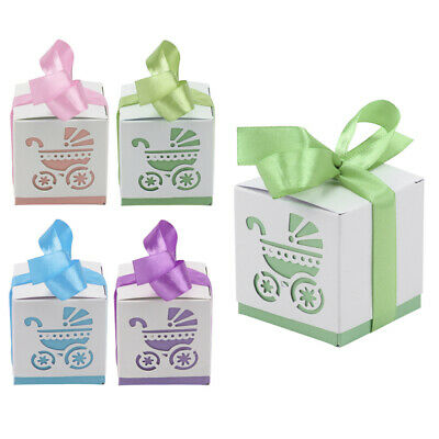 10 Piece Boy Girl Baby Shower Candy Gift Boxes Party Favours Light 4 Colors](Baby Boy Shower Candy)