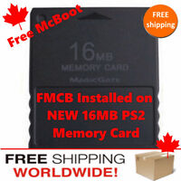 16MB FMCB PlayStation PS2 Memory Card - Free McBoot - FREE Ship
