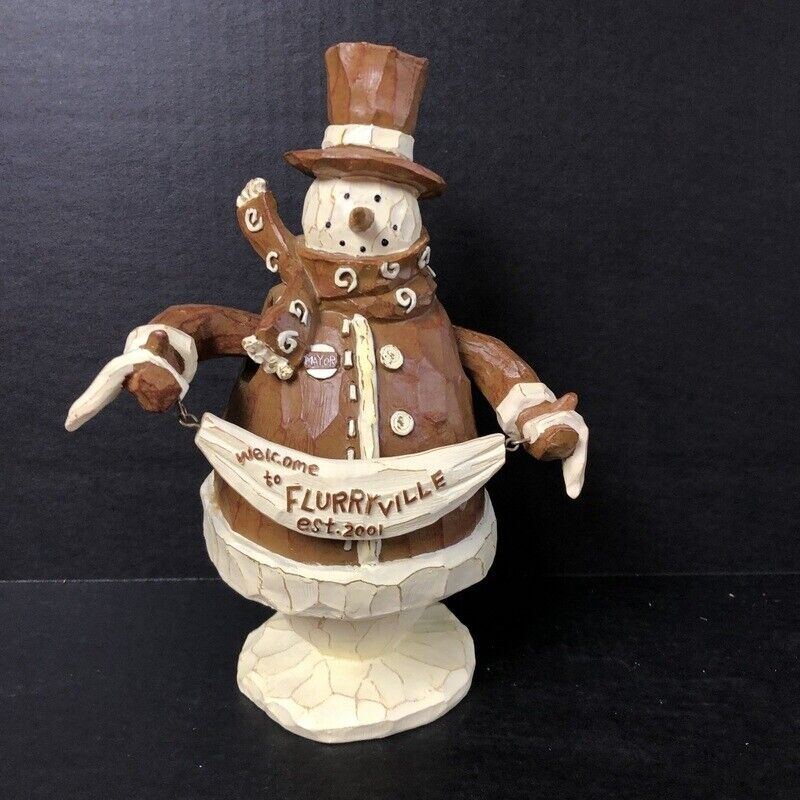 Flurryville Mayor Mike Music Box Figurine Animated Musical Living Quarters