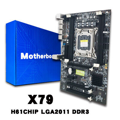 X79 Gaming Motherboard LGA 2011 ATX 4 Channels All Steadfast Board Support E5-2670
