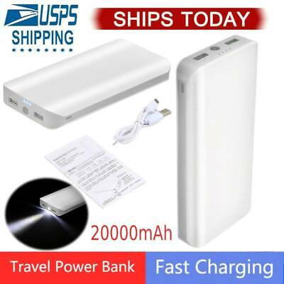 20000mAh Real Capacity Power Bank Portable Mobile Phone Exte