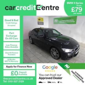BLACK BMW 3 SERIES 2.0 320D M SPORT ***FROM £80 PER WEEK***