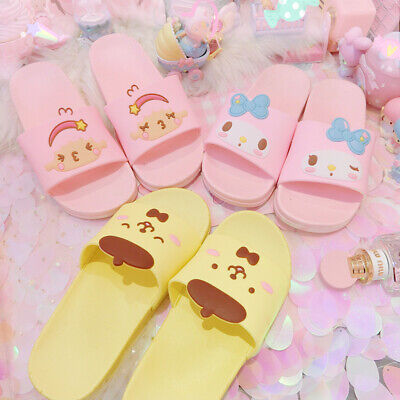 my melody Cinnamoroll PVC shoes indoor slippers bath room shoes cartoon gift ()