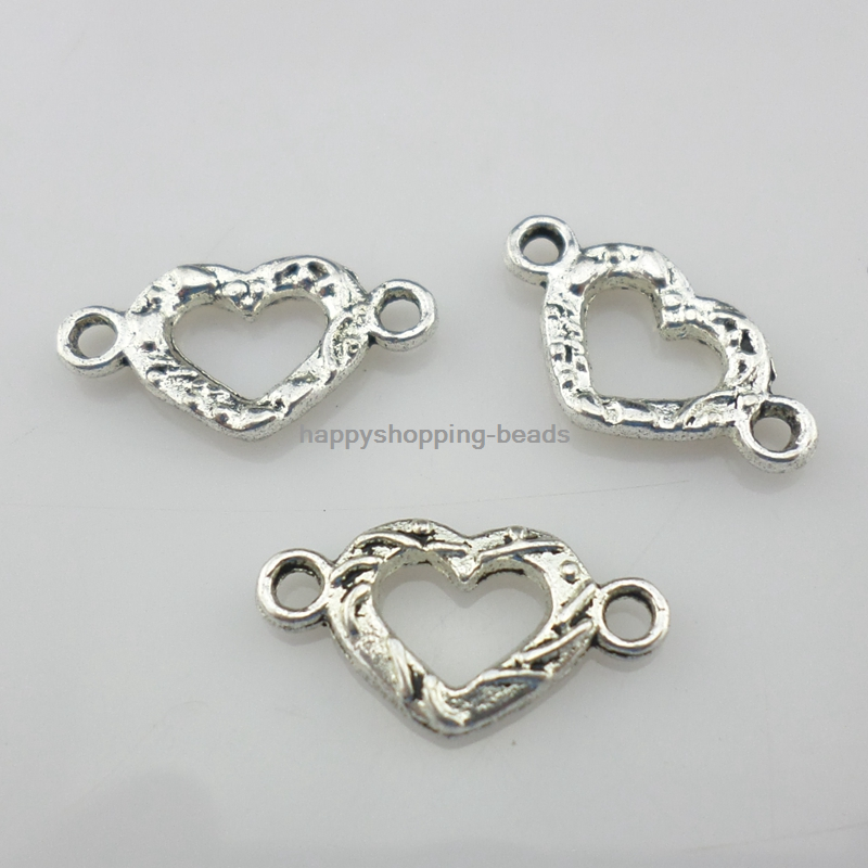 40//80pcs Silver Charms Bird Connectors Charms Pendants Beads Making