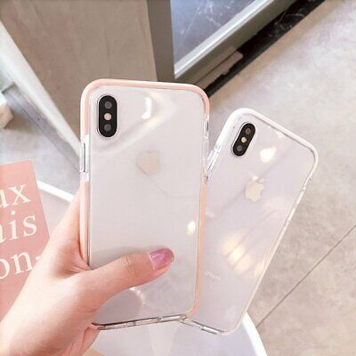 Shockproof Silicone Bumper Phone Case Clear Soft Cover For iPhone X 7 Plus 8 6s