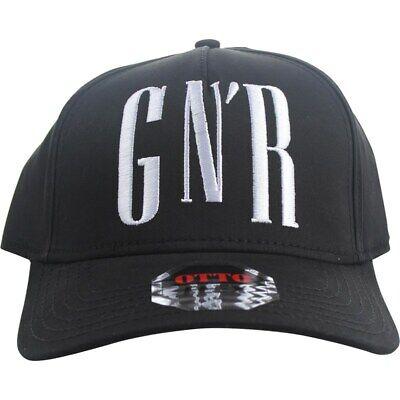 Guns N Roses - GNR Big Logo Unifit Flex Fit Hat In Black Cap SM-MD