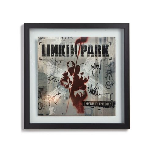 LINKIN PARK Signed By 6 w/ Chester Bennington Hybrid Theory Album LP Cover Print