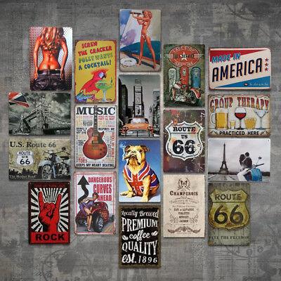 Tin Metal Sign Plaque Bar Pub Vintage Retro Wall Decor Poster Home Club Tavern - Club Decorations