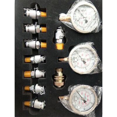 9000psi Excavator Hydraulic Pressure Test Kit Hydraulic Tester 9 Couplings