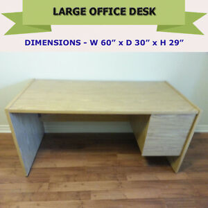 """OFFICE DESK 60"""" X 30"""" - FABULOUS CONDITION WITH FILE HANGERS"""