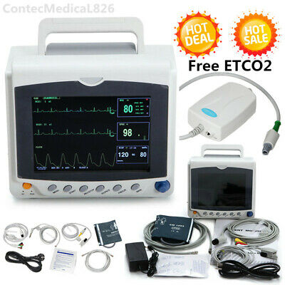 Contec Icu Patient Monitor 6 Parameters Co2 Vital Signs Monitor Cms6000cetco2