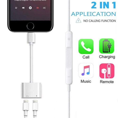 2 in 1 Adapter For iPhone 7 8 X Splitter Lightning Charger A