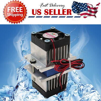 1pc Diy Kit Thermoelectric Peltier Cooler Refrigeration Cooling System Fan