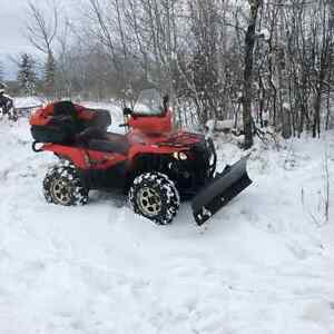2007 Quad and snow blade for sale