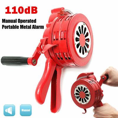 Alarm-sirene (Handsirene Aluminiumgehäuse Sirene Handkurbel Einklappbar Alarmsirene Rot uy)