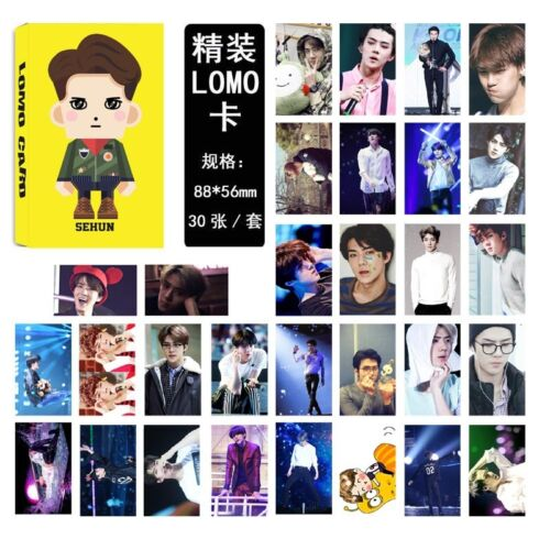 Lot of set cute KPOP EXO Album Personal Collective Photocard Poster Lomo Cards