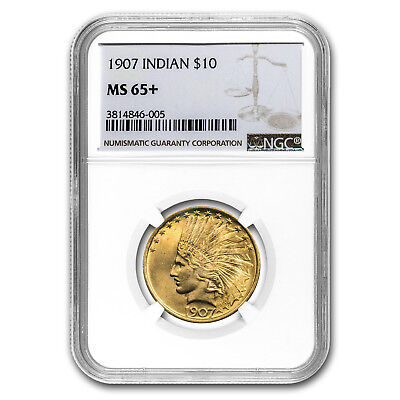 Click now to see the BUY IT NOW Price! 1907 $10 INDIAN GOLD EAGLE NO MOTTO MS 65 NGC   SKU153776