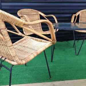 Midcentury Modern wicker chairs