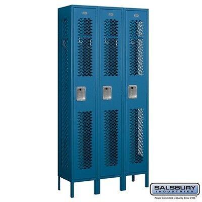 Salsbury Vented Metal Locker Single Tier 3 Wide 6 High 12 Deep Blue 71362bl-u