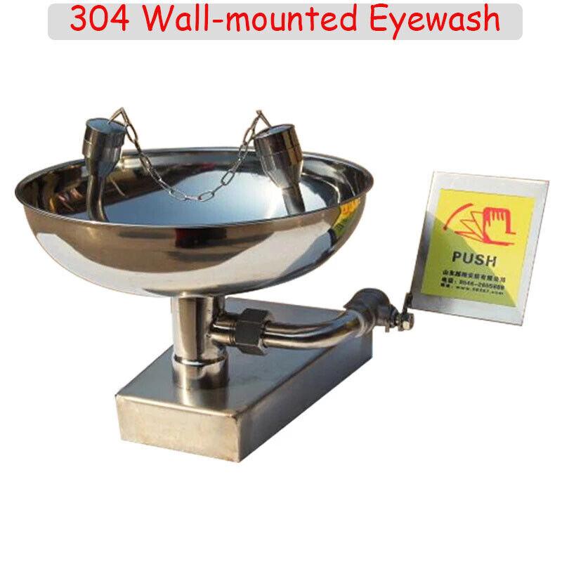 Wall Mounted Eyewash with Stainless Steel Bowl Emergency Eyewash Station