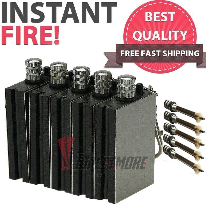 5X Waterproof Permanent Match Lighter, Endless Match, Survival Camp Fire Starter