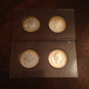 4 1995 Silver 50 cent coins