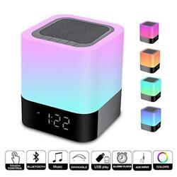 LED Bluetooth HIFI Speaker Music Smart Touch & Night Light Desk Lamp Alarm Clock
