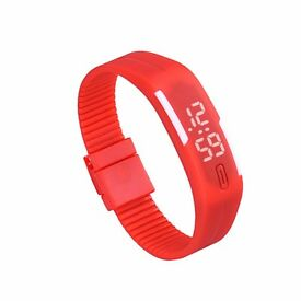 Soft Rubber LED Digital Wrist Watch