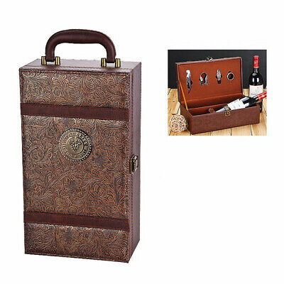 Wine Bottle Box Leather Luxury Bag Red Wine Champagne Tote Carrier Gift Case Bottle Leather Wine Tote