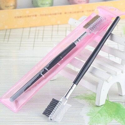 2016 Eyebrow Eyelash Dual-Comb Extension Brush Comb Cosmetic Makeup Tool  PVCA