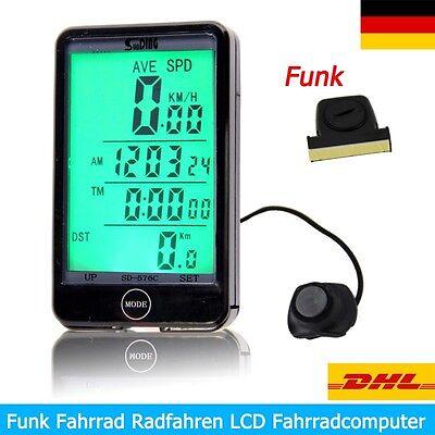 LCD Funk Fahrrad Fahrradcomputer Fahrradtacho Tachometer Kilometerzähler online kaufen