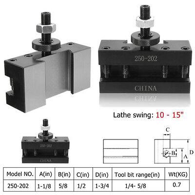 1 Bxa 250-202 Quick Change Turning Boring Facing Cnc Lathe Tool Kit Post Holder