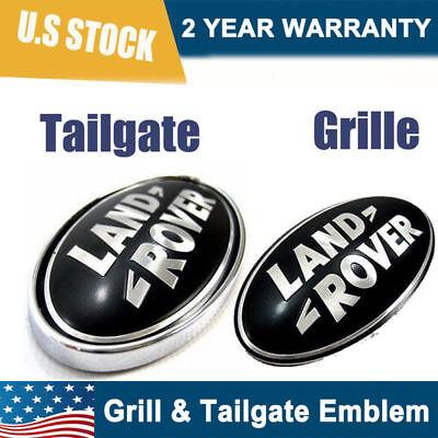 NEW Land Rover LR3 Discovery Freelander Grille/tail Gate Emblem Black Oval Badge