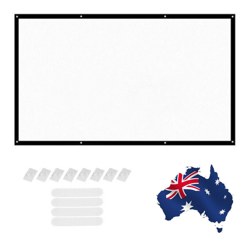 120inch HD Projector Screen 16:9 Home Cinema Movie Theater Projection Outdoor